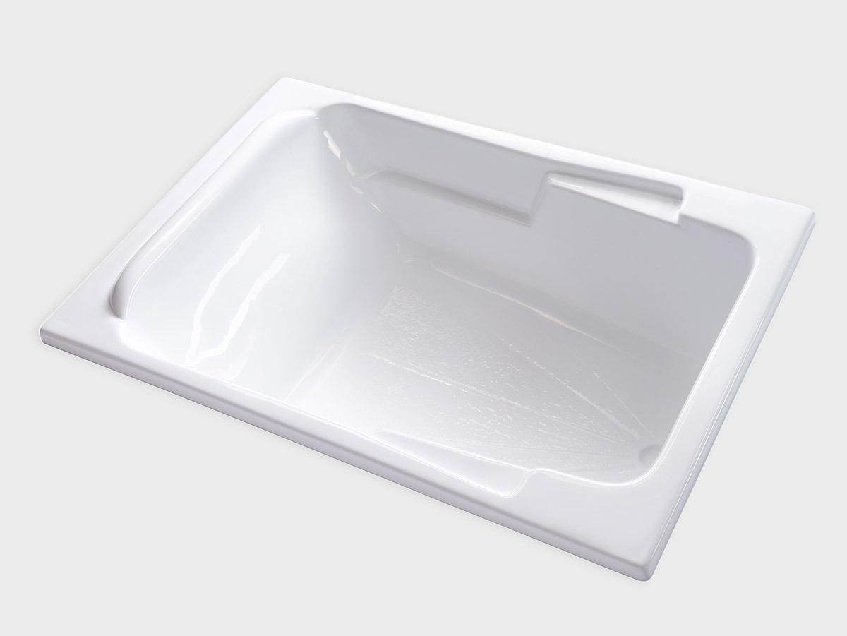 Sr7148 71 x 48 rectangle drop in soaking bathtub for Drop in tub vs freestanding